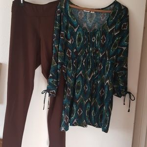 Comfortable tunic can be worn with leggings